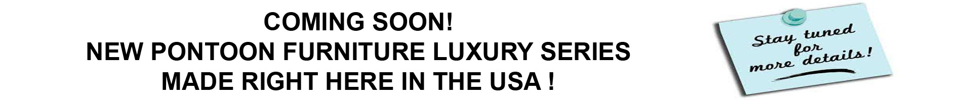 USA Pontoon furniture