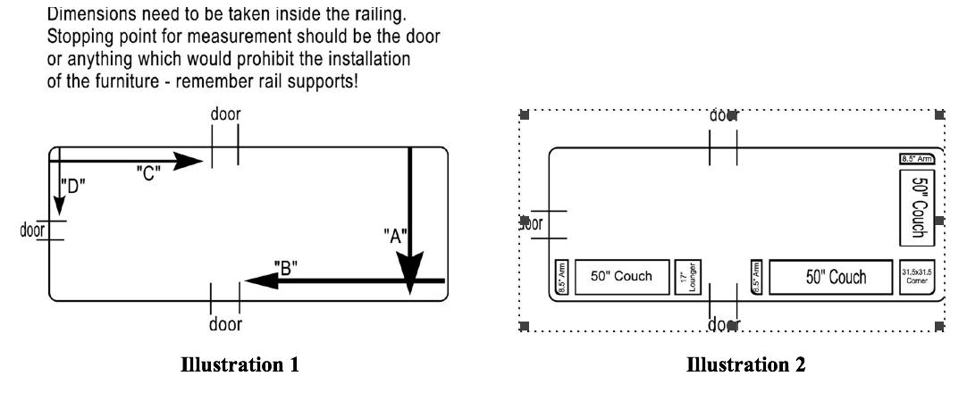 How to Measure Pontoon Furniture